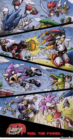 funny sonic memes | Apr 21 206 sonic the hedgehog sonic heroes team attack power knuckles ...