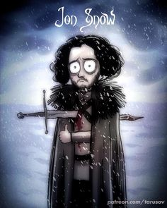 Tim Burton Style Game of Thrones Fan Art http://geekxgirls.com/article.php?ID=8974