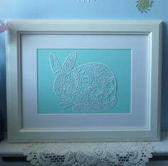 Papercut Bunny -  Fine Art Print from an original papercut