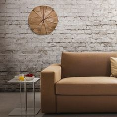 wall clock wood and design Wood Clocks, Wooden Tables, Natural Wood, Love Seat, Couch, Throw Pillows, Interior Design, Bed, Furniture