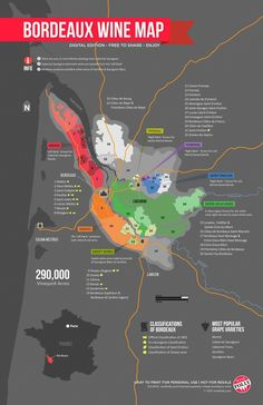 The Bordeaux region is sliced into 38 sub-regions with 57 different appellations