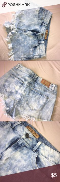 Dyed shorts Mini shorts with cute details at the bottom (warning they are booty shorts!) Shorts Jean Shorts