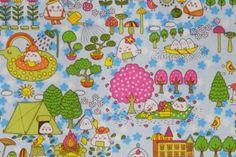 CAC0136 100% Cotton Fabric: All-Over Hawaiian Print Fabric