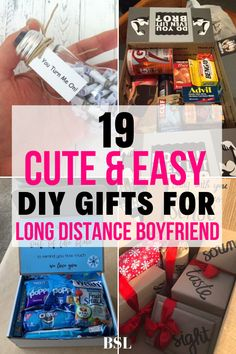 I wanted to do something special for my long distance boyfriend and these diy gifts were exactly what I was looking for. He's going to love this!