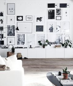 urbnite // gallery wall inspiration, arrangements, styling, home decor for every part of the house, interior decorating Scandinavian Interior, Scandinavian Style, Contemporary Interior, Minimalist Scandinavian, Minimalist Home Decor, Modern Minimalist, Home Living Room, Living Spaces, Home Theather