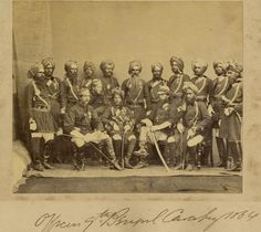 Officers of the 9th Bengal Cavalry, 1864