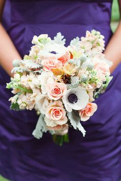 Classic, Southern, Spring Wedding - Pink,  Green,  Bouquet
