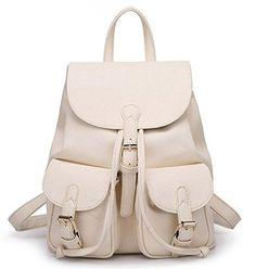 Buenocn Women Soft Leather Lovely Backpack Cute Schoolbag Shoulder Bag Shy360…