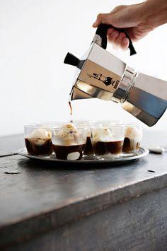 Ice Cream and Espresso, Affogato. #eleganzais