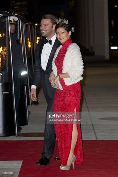 ** ** Alexandra Countess Of Frederiksborg, And Husband, Martin Jorgensen,Attends Gala Performance, At The Concert Hal Of The Danish Broadcasting Corporation, In Copenhagen To Mark The 40Th Jubilee Of Queen Margrethe Of Denmark'S Reign.