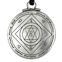 """This Pentacle is made from Pewter and measures 1 1/4"""" H x 1 1/4 """" W. It comes with a Rope necklace. This Talisman is believed to invoke the blessings of good luck when worn by the bearer.One side of the talisman consists of Magical symbols designed to bring the wearer Extreme Good Luck. Very useful for anyone in a business or a speculative adventure such as gambling, investments, banking, or sports. On the other side is the seal of Jupiter said to be one of the greatest assets that anyone..."""