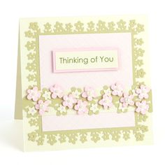 Thinking of You card using MSC Flower Patch Punch Around the Page Flower Patch
