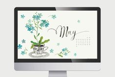 Pretty forget me nots for the month of May. ~oana befort – a visual journal