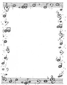Many borders here Page Borders Design, Border Design, Borders For Paper, Borders And Frames, Music Border, Dj Inkers, Music Worksheets, Music Crafts, Piano Teaching