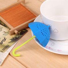 Umbrella Shape Leaf Strainer Herbal Leaf Tea Infuser Submarine Silicone Tea Infuser Filter Diffuser Spice Tea Drinking Strainer