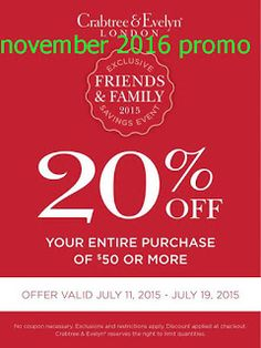 Crabtree & Evelyn Coupons Ends of Coupon Promo Codes MAY 2020 ! Community of inspired see beauty to travel A world the explore Diff. Free Printable Coupons, Free Printables, Dollar General Couponing, Coupons For Boyfriend, Coupon Stockpile, Love Coupons, Grocery Coupons, Extreme Couponing, Coupon Organization