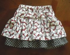 Hello Kitty Skirt!  Will add red rick rack and red tulle to bottom