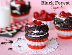Black Forest Cupcakes -- from scratch and so easy!!