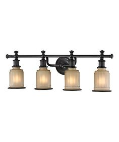 Bronze Acadia Four-Light Bath Wall Sconce | zulily