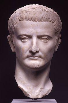 Tiberius Julius Caesar Augustus (the Emperor Tiberius 42 BC - 37 AD; emperor 14-37 AD) Roman, ca. 14 AD. Parian marble