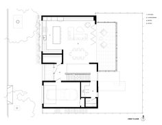 Noe Residence by Studio Vara - San Francisco, United States Modern House Plans, Small House Plans, House Floor Plans, Modern Houses, Facade Architecture, Residential Architecture, Craftsman Floor Plans, Store Layout, Villa Design