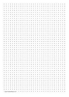 This Printable Dot Paper Has One Dot Every  Millimeters And Is