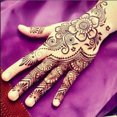 Beautiful Mehndi Designs (Henna Hand Art)More Pins Like This At FOSTER-GINGER @ Pinterest