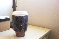 Coffee Sweater in Dark Earthtones by StitchyImpressions on Etsy, $10.00