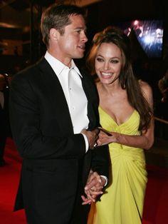 They always seem so loving ♥ Angelina Jolie and Brad Pitt