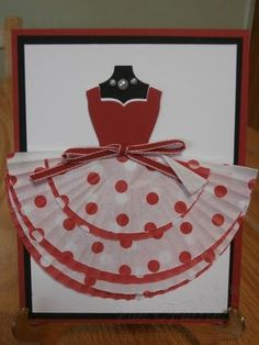 Cupcake Dress card by Jan Farring - This reminds me of Shirley Temple's dress and doll!