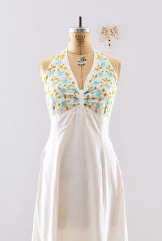 vintage 1960s dress  cotton halter dress  / by PickledVintage, $94.00