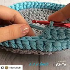 """37 curtidas, 1 comentários - Maura Regina (@presentesartesanais) no Instagram: """"Mais um ponto lindo , bora aprender #fiodemalha #trapilho #feitoamao e com coraçao"""""""