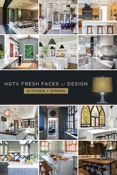 11 Designer Kitchens and Dining Rooms: From meal prep to a stylish spot to linger over that last bite, these beautiful spaces make entertaining easy. >> http://www.hgtv.com/design/fresh-faces-of-design/2015/kitchen-dining?soc=pinterest