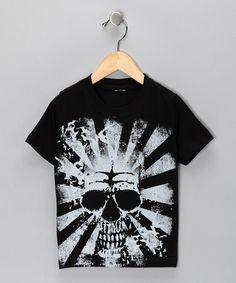 Black Skull Sunburst Tee  from Micro Me on #zulily!
