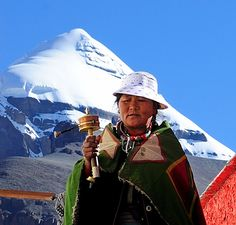 Pilgrimage at Choku monastery, with Mt Kailash in the background. Tibet by reurinkjan, via Flickr