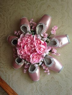 Stunning Pink Pointe Shoe Wreath-Ballet by PointeBlankDesigns