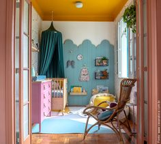 Look at all those beautiful colours . Big Girl Bedrooms, Baby Boy Rooms, Baby Bedroom, Little Girl Rooms, Baby Room Decor, Bedroom Decor, Yellow Kids Rooms, Interior Exterior, Interior Design
