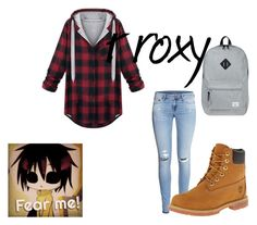 """""""Proxt1"""" by milly-pixie-cartwright ❤ liked on Polyvore featuring H&M, Timberland and Herschel Supply Co."""