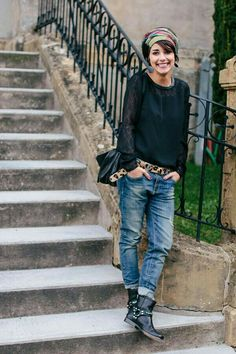Minus the boots. Love the fit of the jeans