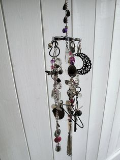 Wind chime, make your own with old trinkets  and jewellery