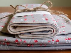 Reserved for Ashley and Dustin Lauderdale, Organic Baby Blanket and Burp Cloths Set, SHROOMY. $64.50, via Etsy.