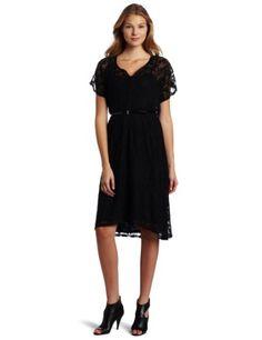 883b44ffdf5b Ella moss Women s Short Sleeve Blouson Lace Dress