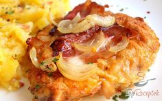 Fordított szelet Nadi módra Veggie Recipes, Chicken Recipes, Cooking Recipes, Schnitzel Mal Anders, Czech Recipes, Ethnic Recipes, Slovakian Food, Sweet And Sour Cabbage, Prague Food