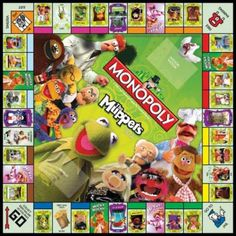 The Muppets Collector's Edition is an officially licensed edition of the classic Monopoly board game based on the film the muppets. Properties include Kermit's Swamp, Miss Piggy's Dressing Room and Fozzie Bear's Comedy Club. Monopoly Board, Monopoly Game, Jim Henson, Fun Games, Games To Play, Les Muppets, Fraggle Rock, The Muppet Show, Marionette