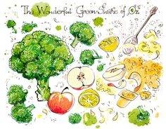 Cartoon Cooking: The Wonderful Green-Shake of Oz. El Maravilloso Batido de Oz.