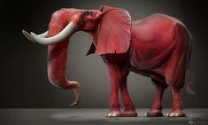 ArtStation - Red elephant, JB Vendamme
