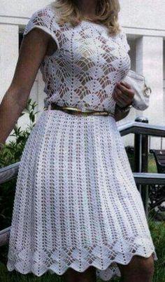 Image gallery – Page 307863324526429148 – Artofit Crochet Beach Dress, Crochet Summer Dresses, Crochet Skirts, Knit Skirt, Crochet Clothes, Knit Dress, Dress Skirt, Crochet Stitches Patterns, Crochet Designs