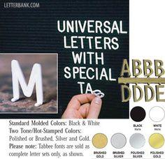 Bulletin Letter Sets, tabbed back, available at letterbank.com
