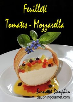 Appetizer Recipes, Snack Recipes, Dessert Recipes, Cooking Recipes, Snacks, Tomate Mozzarella, Fancy Desserts, Food Decoration, Creative Food