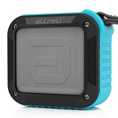 Portable Outdoor and Shower Bluetooth Speaker aLLreLi Bluetooth 40 Speaker with 10 Hour Rechargeable Battery Life Powerful 5W Audio Driver Pairs with All Bluetooth Devices  Ocean Blue -- Click image for more details. (Note:Amazon affiliate link)